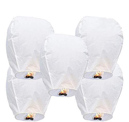 GCOA 5 Pack Linternas de Papel Farolillo celestiales Chinas