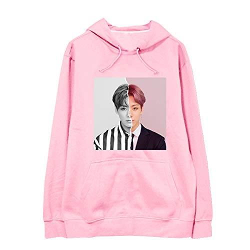 SERAPHY Unisex KPOP Kapuzenpullover Avatar Sweatshirts Army Suga Jimin Jin Jung Jook J-Hope Rap-Monster V Pullover-97-Pink-M