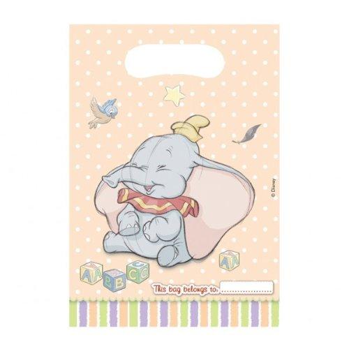 Party Bags 2 Go - Sacchetti per feste, motivo: Dumbo, confezione da 6