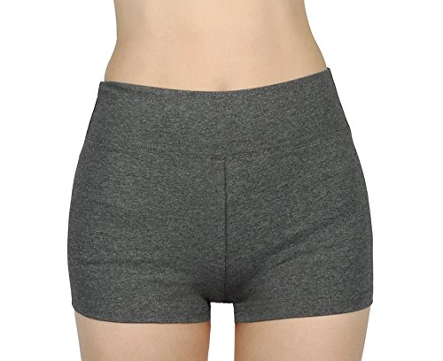 iLoveSIA iloveSIA Short Mädchen Yoga Sport Shorty grau Sport kurzen Hosen Strecken Laufen Damen Shorts,S