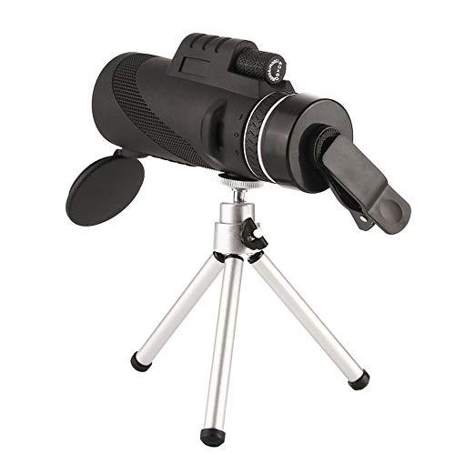 DKEE HD-Hochleistungsteleskop FMC Multi Coating Monocular BAK4 for Das Fischen Camping/Wandern/Höhlenvogelbeobachtung Black Waterpoof.