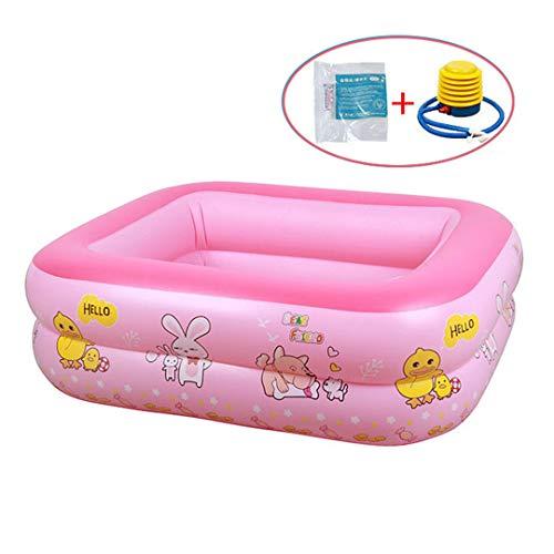 Aufblasbarer Pool Schneller Wasserablauf für Kinder 3-6 - Aufblasbarer Pool mit Pumpe und Patch