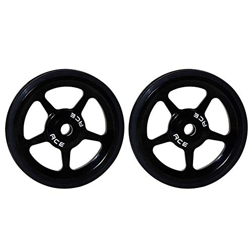 XQxiqi689sy - Ruedas de aleación de aluminio ultraligeras para bicicleta plegable Brompton (2 unidades), Hombre, negro, talla única