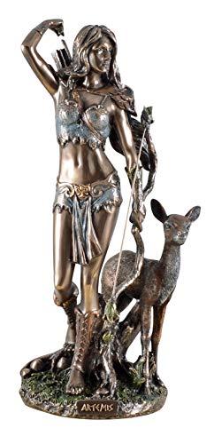 Veronese 708-7355 Figur der Artemis griechische Göttin der Jagd mit Pfeil und Bogen REH