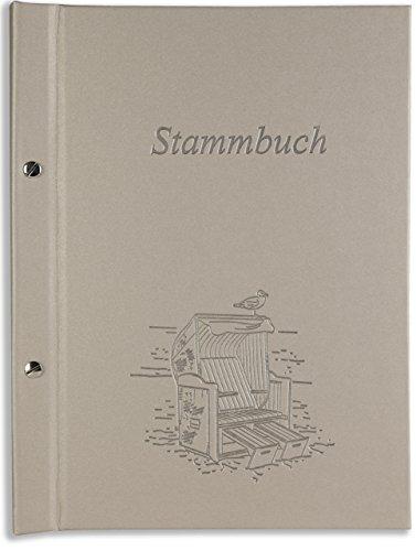 A5 Stammbuch Hochzeit grau Mage Silber Strandkorb Strand