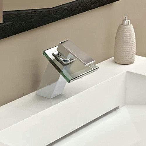 Grifo de lavabo Grifos de ducha Grifo de lavabo de baño inductivo Grifos de fregadero de cocina Grifo mezclador de lavabo de baño Grifos de cascada de vidrio de latón cromado