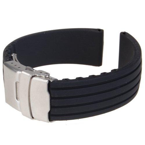 交換ベルトシリコーンゴム 腕時計ストラップ 防水 18mm ブラック