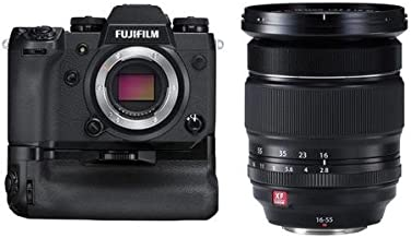Fujifilm X-H1 Mirrorless Camera Body, with Vertical Power Booster Grip Kit - And XF 16-55mm F2.8 R LM WR (Weather Resistant) Lens
