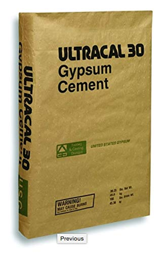 ULTRACAL 30 Gypsum Cement - Plaster - for Mold Making and Casting, Ideal for Latex Molds! Takes Excellent Detail (10 lb)