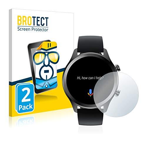 BROTECT Schutzfolie kompatibel mit Mobvoi Ticwatch C2 Plus (2 Stück) klare Bildschirmschutz-Folie