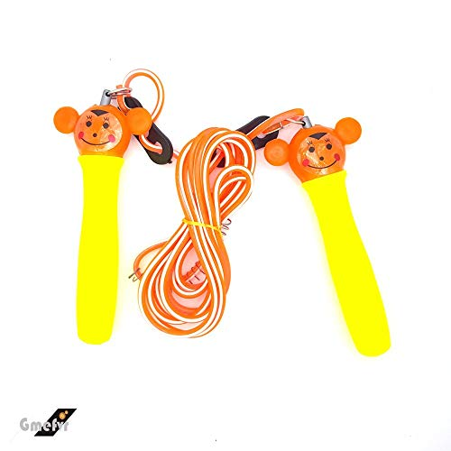 GMEFVR Kids Jump Rope Skipping Rope Light Weight Multicolor (no Color Choice)