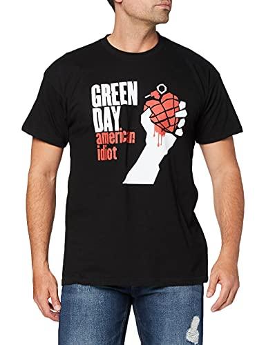 Générique Green Day American Idiot T-Shirt à Manches Courtes pour Homme - Noir - Medium