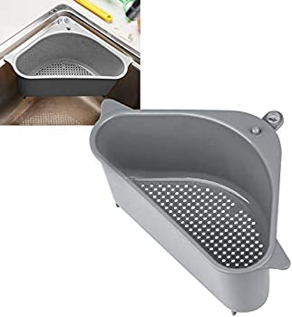 Intolives Kitchen Sink Corner Drain Shelf with Suction Cup