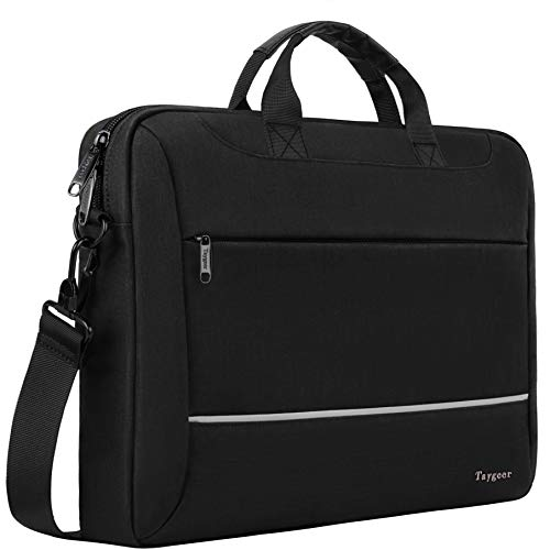 Laptop Bag 15.6 inch, Taygeer Slim Laptop Briefcase for Men Women, Business Portable Carrying Case Computer Shoulder Bag, Tablet Attache Compatible with HP Dell Lenovo Asus Microsoft Surface, Black