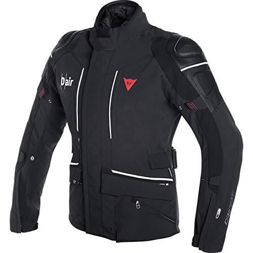 Dainese Motorradjacke mit Protektoren Motorrad Jacke Cyclone D-Air Textiljacke schwarz/weiß 52 (L), Herren, Tourer, Ganzjährig