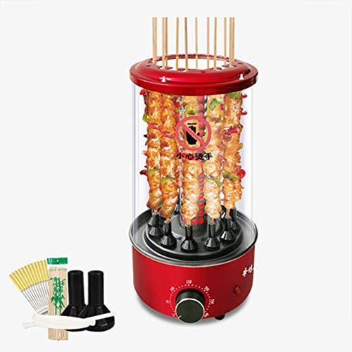 Lhh Rotisserie Grill Backofen - Rotierende Vertikal Kebab Grill - Aufsatz- Elektro BBQ Grill - Kabob Maschine mit 360 ° Rauchlos Automatische Rotating, Einstellbare Temperatur