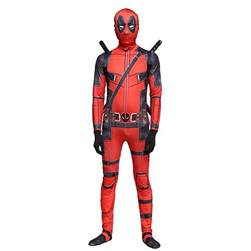 YQFZ Deadpool Kostuum Met Masker Superhero Cosplay Suit Jongen Bodysuit Kid Kostuums Voor Feest, Kinderen Klein