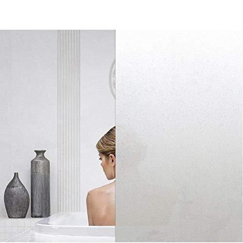 Emmala 45X200Cm Raamfolie, zelfklevend, melkglasfolie, ondoorzichtig, privacyfolie, raam, anti uv unicaat, statische folie, melkglas, voor kantoor of thuis, mat, 45 x 200 cm