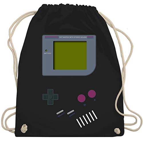 Nerds & Geeks - Gameboy - Unisize - Schwarz - nerd rucksack - WM110 - Turnbeutel und Stoffbeutel aus Baumwolle