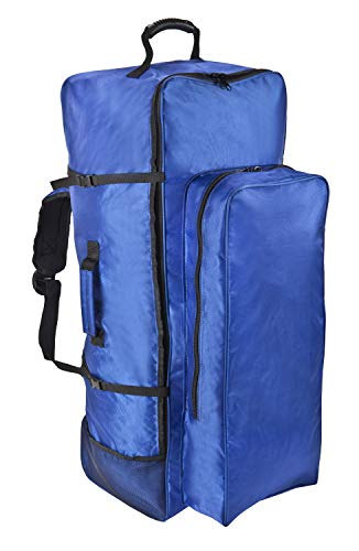 MantaGlider Premium Universal Inflatable Paddleboard/iSUP Bag - Easy Carry Backpack with Wheels Includes Roll Strap and Built-in Paddle Storage