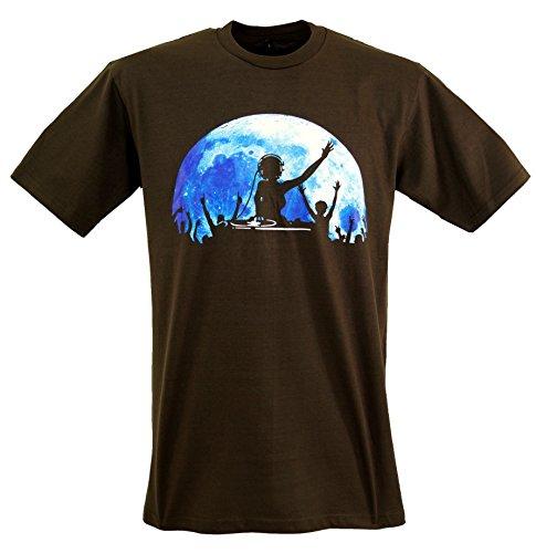 GURU SHOP Fun T-Shirt, Herren, DJ Power, Baumwolle, Size:M, Rundhals Kurzarm Shirt Alternative Bekleidung