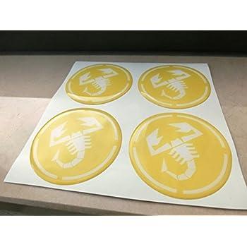 Lot de 4 cache-moyeux pour jantes en alliage enjoliveurs 55/mm tuning en r/ésine effet 3D 3M autocollants stickers GTBTUNING