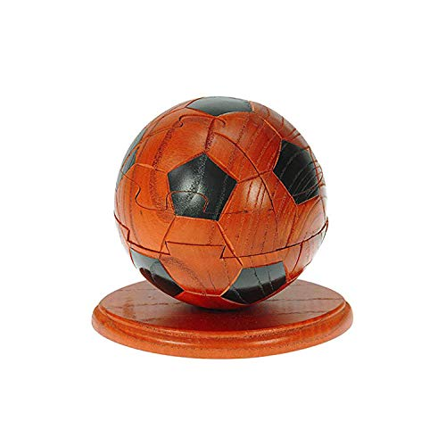 HomeZone Handcrafted Football Themed Wooden 3D Jigsaw Puzzles | Educational Brain Teaser Jigsaw | Home and Office Ornament
