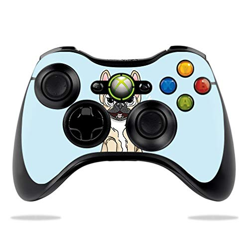 MightySkins Skin Compatible with Microsoft Xbox 360 Controller - Frenchie Love | Protective, Durable, and Unique Vinyl Decal wrap Cover | Easy to Apply, Remove, and Change Styles | Made in The USA