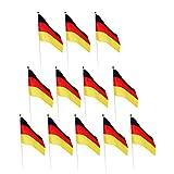Sharplace 12er Deutschland-Fahne | WM 2018 | Stockfahne | Kinder-Fahne BRD | Fähnchen | Deutschland-Flagge - Deutschland