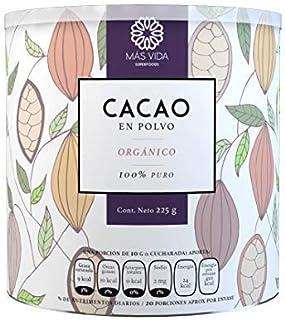 Más vida | Cacao orgánico en polvo premium | 100% natural |