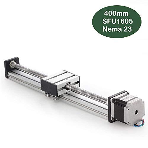 400mm longitud de viaje etapa lineal actuador DIY CNC Router partes x y z Linear Rail Guía SFU1605NEMA23