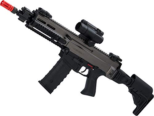 Evike ASG Fully Licensed CZ 805 Bren-A2 Carbine Airsoft AEG (Color: Two-Tone Grey)