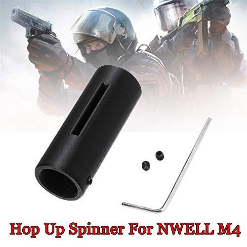 Lixia-Qiang, Negro de plástico Hop Up Silenciador supresor for NWELL / M4 Accesorios de reemplazo Hop Up Spinner