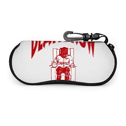 Estuche para gafas de sol de viaje portátil resistente a los arañazos con forma de concha de muerte para gafas de sol de viaje ligero con gancho para unisex