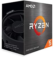 AMD Ryzen 5 5600X with Wraith Spire cooler 3.7GHz 6コア / 12スレッド 32MB 65W 100-100000065 三年保証 [並行輸入品]