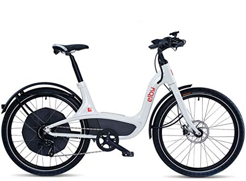 Elby Bike 9 Speed Electric Bike, White, 16.5'/One Size