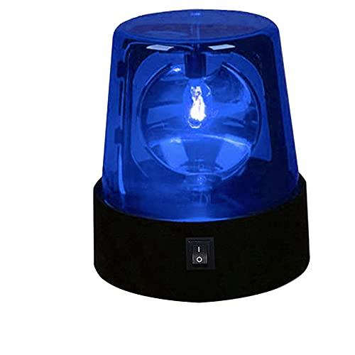 Perfeclan Luces de Advertencia de baliza estroboscópica giratoria LED Industrial, Luces de señal giratorias eléctricas para emergencias - Azul