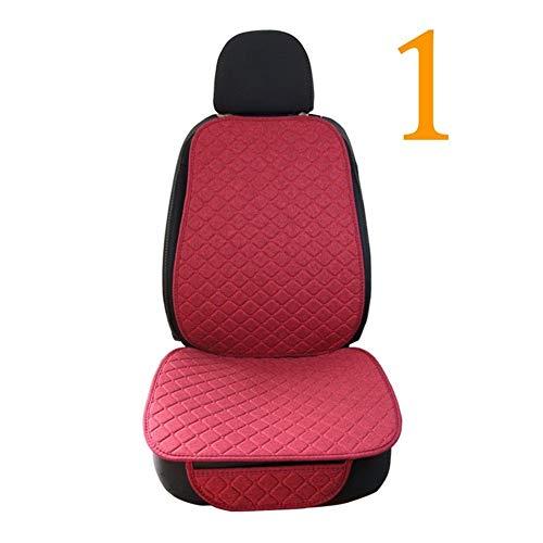 Bescherming voor autostoel, modern, minimalistisch, modieus, grote afmetingen, linnen, voor voor- of achterbank, voor auto, interieur, vrachtwagen. 1 front red