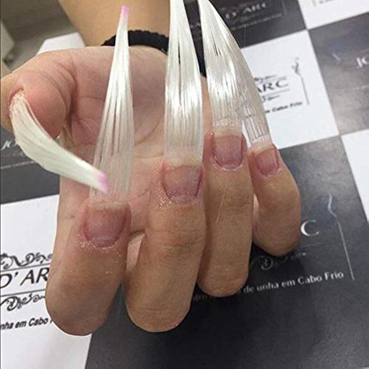 物理的な胚相続人Maxbei 50枚入りネイルエクステンション用グラスファイバー 延長繊維ネイル 及び 5個入り爪のクリップ ネイルアートツール