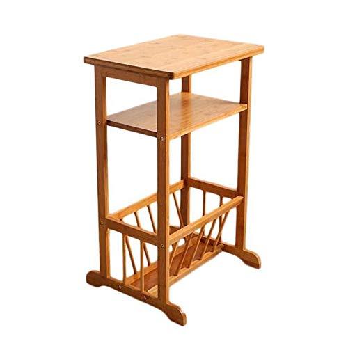 Tabellen CJC 2 Tier Plank Planken Sofa Zijkant, Bamboe/Nachtkast/Telefoon/Koffie/Einde Opslagrek