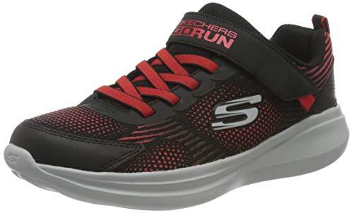 Skechers Go Run Fast-Sprint Jam, Zapatillas, Negro (BKRD Black Textile/Synthetic/Red Trim), 28 EU