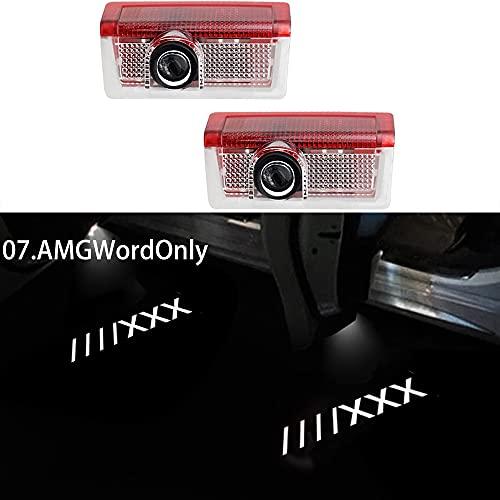 Auto-Tür-Logo Licht Kompatibel mit Mercedes Benz A B E C M ML GLC GLC GLS KLASSE W205 W176 W177 W212, LED Auto Logo Türlicht Auto Laser Projektor Welcome Lamps personalisierte