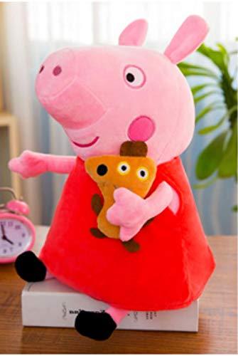 BAONZEN Rosa Peggy Pig Plüschtier Süße Peggy Family Puppe Piggy Doll Kind Geburtstagsgeschenk @ 1_30cm