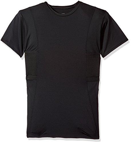 UnderTech Undercover Concealment Mens Crew Neck Shirt S M L XL XXL XXXL (Black, Small)