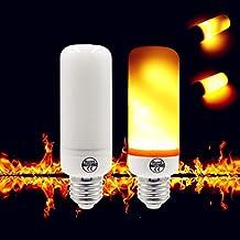 Creative 3 Modes+Gravity Sensor Flame Lights E27 E26 E14 LED Flame Effect Fire Light Bulb 7W 9W Flickering Emulation Decor...