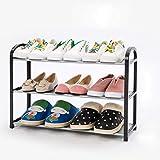 3 capas de plástico Zapatos Estante, multifuncional ligero zapato durable del...