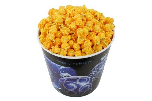 Lowest Prices! Signature Popcorn, 1-Gallon Happy Holidays Blue Ornament Reusable Plastic Tin - Gourm...