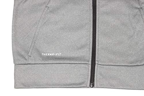 Nike Air Jordan Boy's Therma-Fit Jumpman Hoodie (Medium, Carbon Heather/Black)