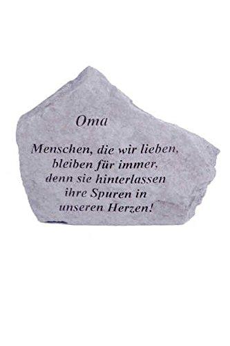 Vidroflor Gedenkstein Oma. aus Steinguss 18 x 14 cm Grabschmuck
