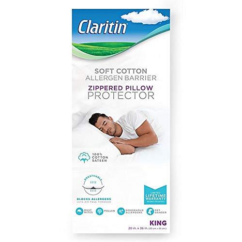 Claritin Cotton Standard/Queen Pillow Protector